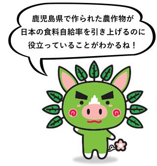 鹿児島県で作られた産品が鹿児島県内でどのくらい消費されているか分かるね!