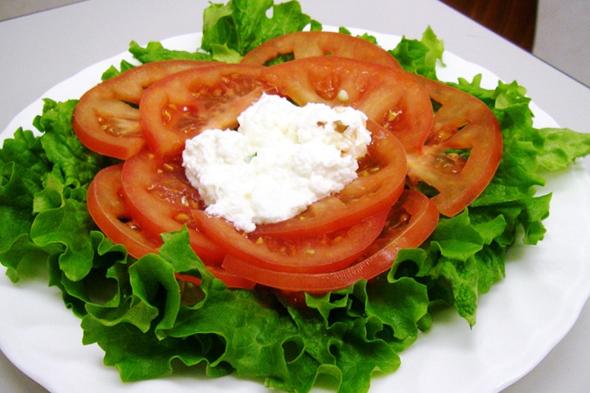 カッテージチーズのサラダ
