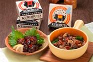 黒豚缶詰グルメカップシリーズ 黒豚のハツ・タン・ガツのアヒージョ/黒豚軟骨の甘辛醤油煮