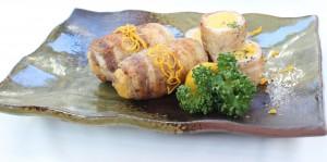 料理コンテスト(やわらかさつまいもの黒豚巻き) (2)トリミング